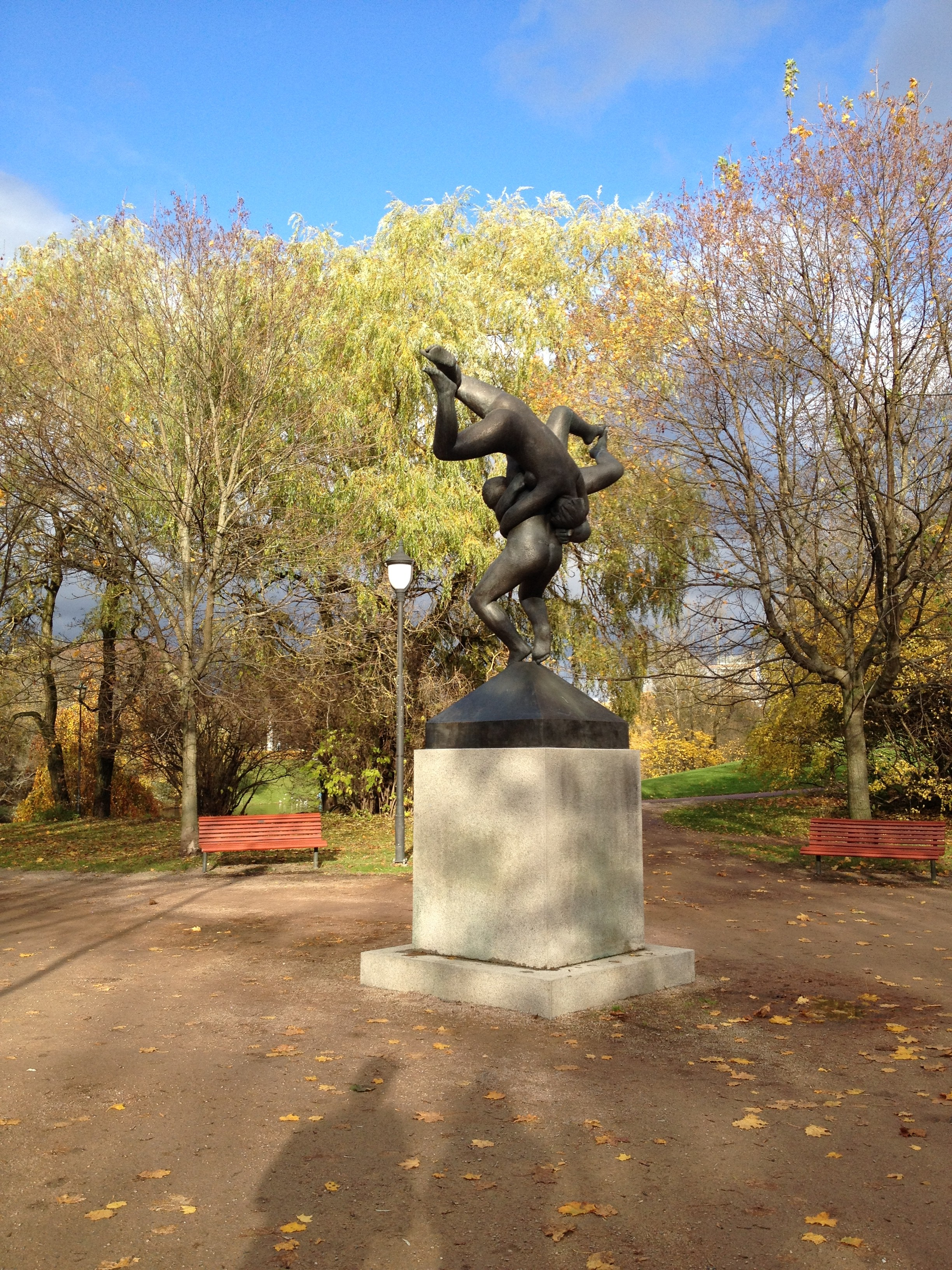 Oslo, vigeland, travel, autumn, statues