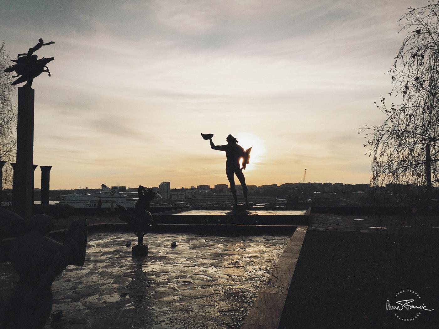 anna, franck, photography, stockholm, millesgarden, statues, sculptures, statyer, skulpturer, milles, november, sunset, solnedgång, soft, light, natural, garden