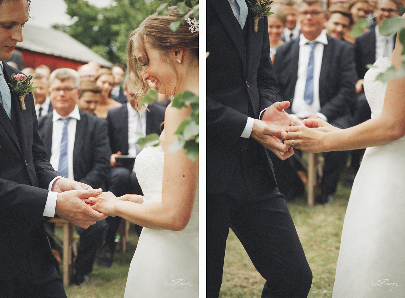 anna, franck, photography, wedding, weddingphotographer, bröllopsfotograf, stockholm, nyköping, bröllop, häät, summer, kesä, sommar, natural, naturligt, vackert, avslappnat, relaxed, nature, dress, hääpuku, bröllopsklänning, bukett, kukat, flowers, porträtt, muotokuva, portraits, vigsel, onlocation, utomhusvigsel, ringar, weddingbands, openairceremony